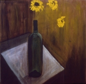 Daises and Bottle