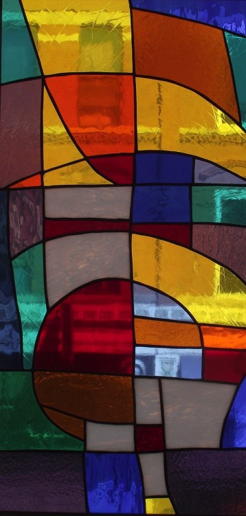 "Stain Glass #4, 12"" x 24"", Sold"