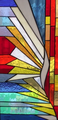 """Stain Glass #7, 12"""" x 24"""""""