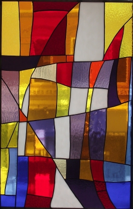 "Stain Glass 1, 22"" x 34"""
