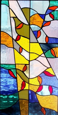 "Stain Glass # 9, 12"" x 24"""