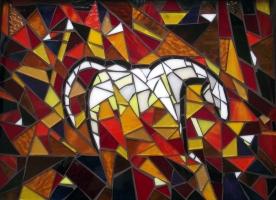 Horse, Mosaic Tray