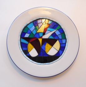 Whimsical Abstract set in a porcelain plate.